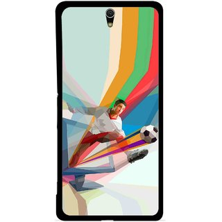 Snooky Printed Kick FootBall Mobile Back Cover For Sony Xperia C5 - Multicolour