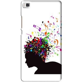 Snooky Printed Music Lover Mobile Back Cover For Huawei Ascend P8 - Multi