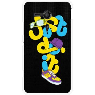 Snooky Printed Just Do it Mobile Back Cover For Sony Xperia SP - Multicolour
