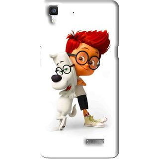 Snooky Printed My Friend Mobile Back Cover For Oppo R7 - Multi