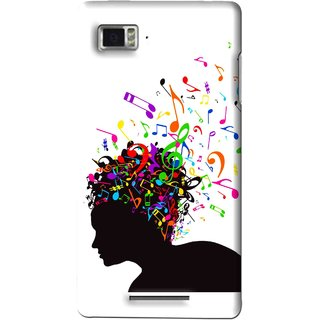 Snooky Printed Music Lover Mobile Back Cover For Lenovo K910 - Multi