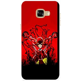 Snooky Printed Super Hero Mobile Back Cover For Samsung Galaxy C7 - Multicolour