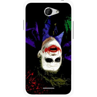 Snooky Printed Hanging Joker Mobile Back Cover For HTC Desire 516 - Multicolour