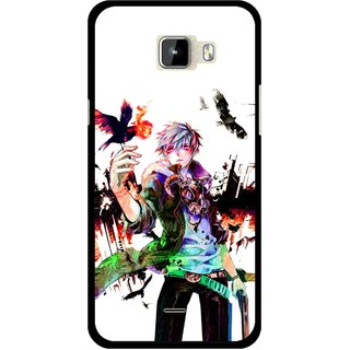 Snooky Printed Angry Man Mobile Back Cover For Micromax Canvas Nitro A310 - Multicolour
