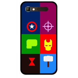 Snooky Printed Multi Heros Mobile Back Cover For Intex Aqua Y2 Pro - Multicolour