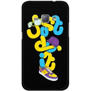 Snooky Printed Just Do it Mobile Back Cover For Samsung Galaxy J1 - Multicolour