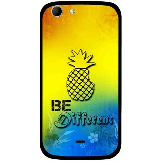 Snooky Printed Be Different Mobile Back Cover For Micromax Canvas 4 A210 - Multicolour