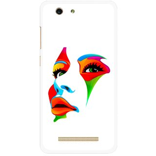 Snooky Printed Modern Girl Mobile Back Cover For Gionee F103 pro - Multi