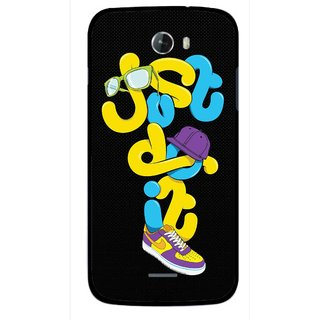 Snooky Printed Just Do it Mobile Back Cover For Micromax Bolt A068 - Multicolour