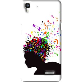 Snooky Printed Music Lover Mobile Back Cover For Oppo R7 - Multi