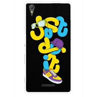 Snooky Printed Just Do it Mobile Back Cover For Sony Xperia T3 - Multicolour
