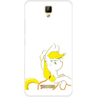 Snooky Printed Horse Cartoon Mobile Back Cover For Gionee P7 - Multicolour