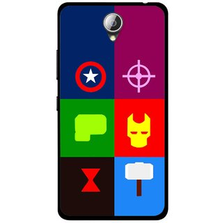 Snooky Printed Multi Heros Mobile Back Cover For Lenovo A5000 - Multicolour