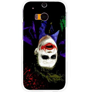 Snooky Printed Hanging Joker Mobile Back Cover For HTC One M8 - Multicolour