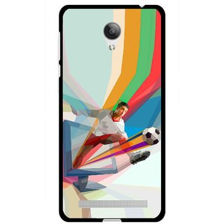 Snooky Printed Kick FootBall Mobile Back Cover For Vivo Y28 - Multicolour