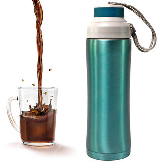 450 ML Acqua Vacuum Thermos Flask Kettle Coffee Pot Steel Hot Cold Bottle