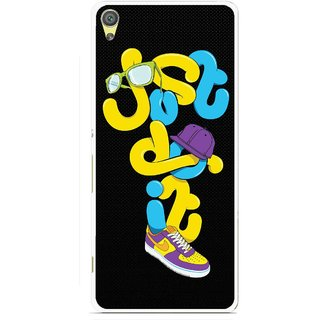 Snooky Printed Just Do it Mobile Back Cover For Sony Xperia XA - Multicolour