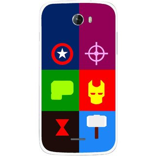 Snooky Printed Multi Heros Mobile Back Cover For Micromax Bolt A068 - Multicolour