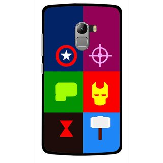 Snooky Printed Multi Heros Mobile Back Cover For Lenovo K4 Note - Multicolour