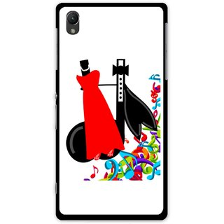 Snooky Printed Fashion Mobile Back Cover For Sony Xperia Z1 - Multi