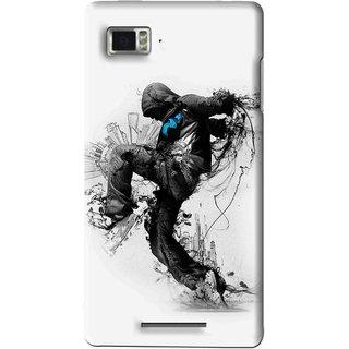 Snooky Printed Enjoying Life Mobile Back Cover For Lenovo K910 - Multi