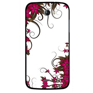 Snooky Printed Flower Creep Mobile Back Cover For Micromax Bolt A068 - Multicolour