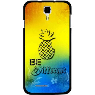 Snooky Printed Be Different Mobile Back Cover For Micromax Canvas Juice A177 - Multicolour