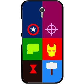 Snooky Printed Multi Heros Mobile Back Cover For Lenovo Zuk Z1 - Multicolour