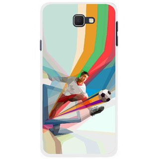 Snooky Printed Kick FootBall Mobile Back Cover For Samsung Galaxy J5 Prime - Multicolour