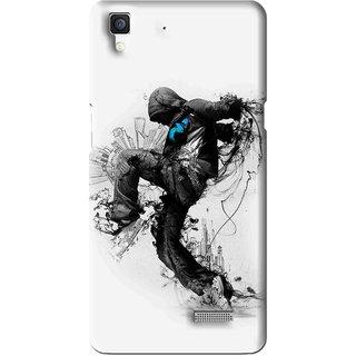 Snooky Printed Enjoying Life Mobile Back Cover For Oppo R7 - Multi