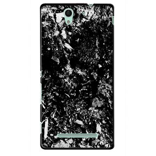 Snooky Printed Rocky Mobile Back Cover For Sony Xperia C3 - Multicolour