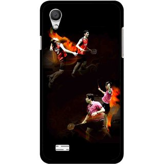 Snooky Printed Sports Player Mobile Back Cover For Vivo Y11 - Multi