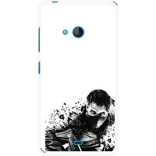 Snooky Printed Commando Mobile Back Cover For Nokia Lumia 540 - Multicolour