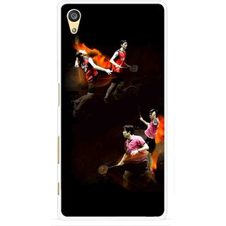 Snooky Printed Sports Player Mobile Back Cover For Sony Xperia Z5 - Multi