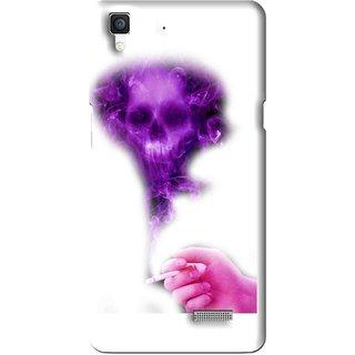 Snooky Printed Danger Mobile Back Cover For Oppo R7 - Multi