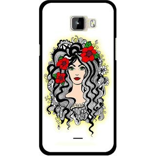 Snooky Printed Tarro Girl Mobile Back Cover For Micromax Canvas Nitro A310 - Multicolour