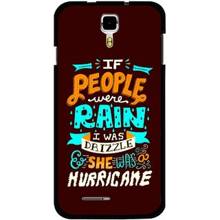 Snooky Printed Monsoon Mobile Back Cover For Micromax Canvas Juice A177 - Multicolour