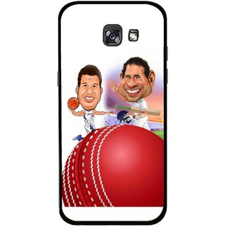 Snooky Printed Play Cricket Mobile Back Cover For Samsung Galaxy A5 (2017) - Multicolour