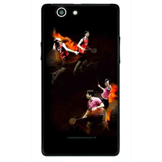 Snooky Printed Sports Player Mobile Back Cover For Xolo A500s - Multi