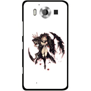 Snooky Printed Kungfu Girl Mobile Back Cover For Microsoft Lumia 950 - Multicolour