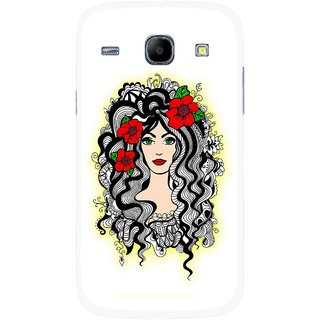 Snooky Printed Tarro Girl Mobile Back Cover For Samsung Galaxy Core - Multicolour