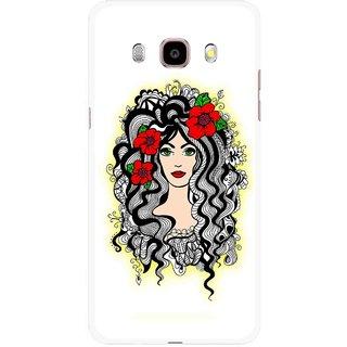 Snooky Printed Tarro Girl Mobile Back Cover For Samsung Galaxy J5 (2016) - Multicolour