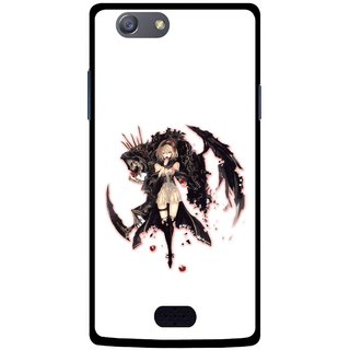 Snooky Printed Kungfu Girl Mobile Back Cover For Oppo Neo 5 - Multicolour