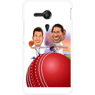 Snooky Printed Play Cricket Mobile Back Cover For Sony Xperia SP - Multicolour