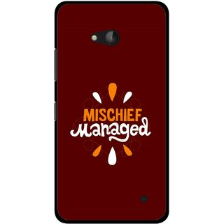Snooky Printed Mischief Mobile Back Cover For Nokia Lumia 640 - Multicolour