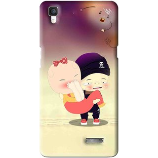 Snooky Printed Friendship Mobile Back Cover For Oppo R7 - Multi