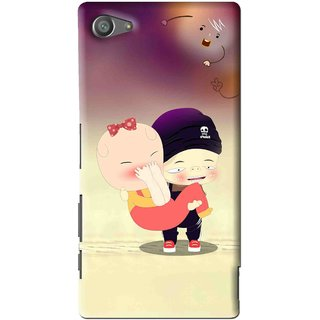 Snooky Printed Friendship Mobile Back Cover For Sony Xperia Z5 Compact - Multi