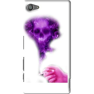 Snooky Printed Danger Mobile Back Cover For Sony Xperia Z5 Compact - Multi