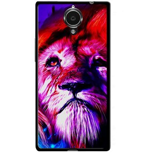 Snooky Printed Freaky Lion Mobile Back Cover For Gionee Elife E7 - Multicolour