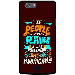 Snooky Printed Monsoon Mobile Back Cover For Oppo Neo 5 - Multicolour